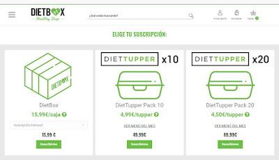 Suscripción DietTupper