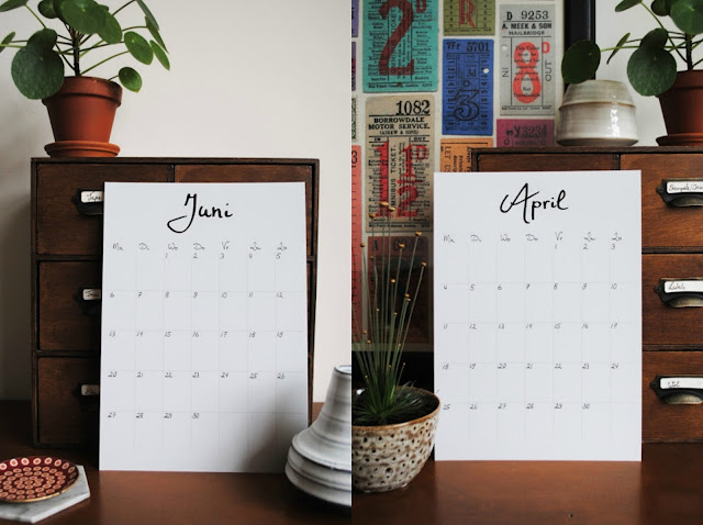 gratis kalender 2017 dutch design on a budget