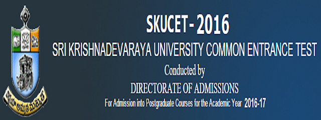 SKUPGCET 2016 hall tickets,skucet exam dates 2016