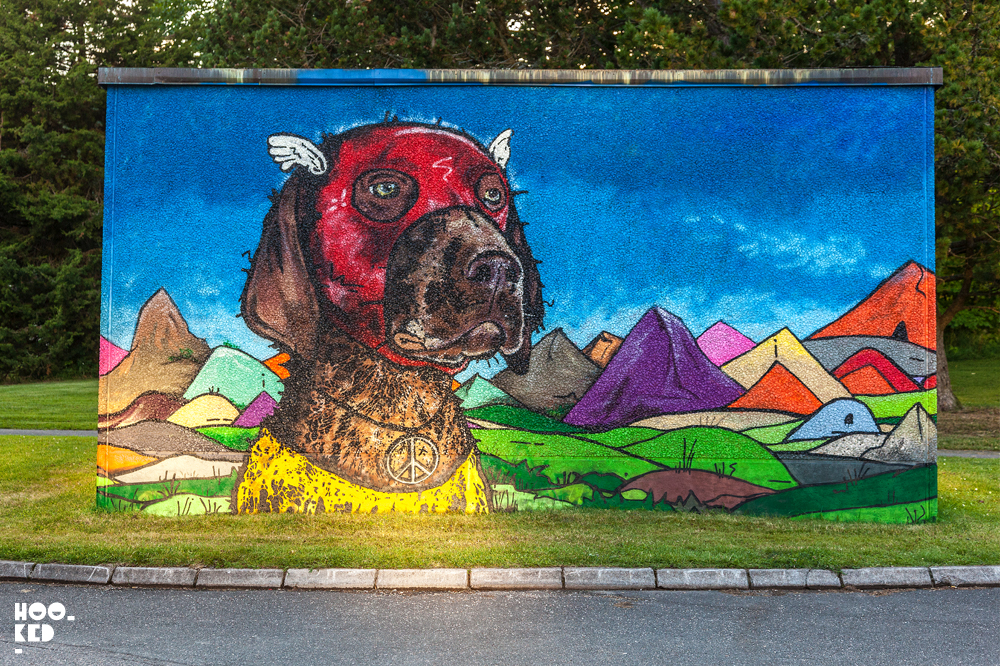 Teddy Badden, Street Art Mural in Falköping, Sweden. Photo ©Hookedblog / Mark Rigney