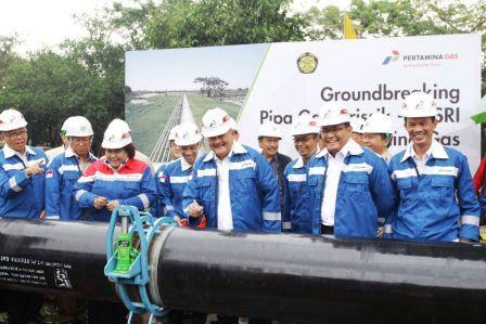 Kini Gas di Kabupaten Muba Dialirkan Hingga Ke Pusri