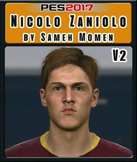 PES 2017 Faces Nicolo Zaniolo by Sameh Momen