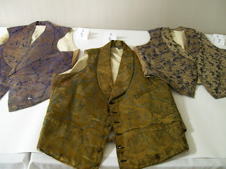 Three 19th century vests from the PNJW Collection.