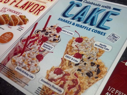 On Second Scoop Ice Cream Reviews Sonic Oreo Cake Shake