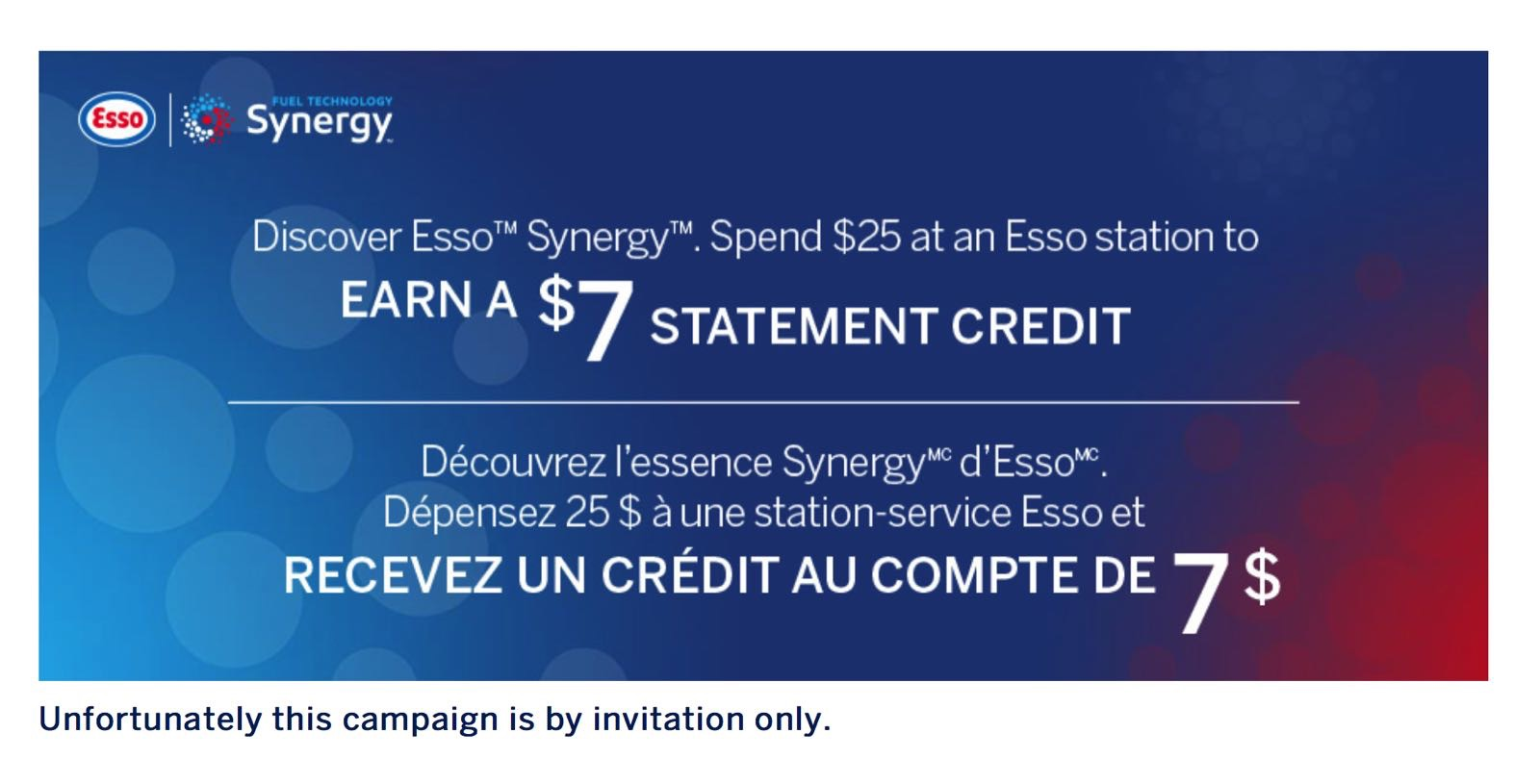 Canadian Rewards AmEx Spend 25 at an Esso station to earn a 7