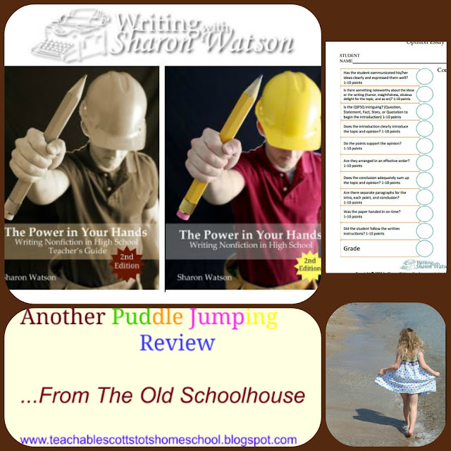 #hsreviews #highschoolwriting #writingcurriculum, Sharon Watson, Writing with Sharon Watson, The Power in Your Hands, composition, high school writing, homeschool writing program