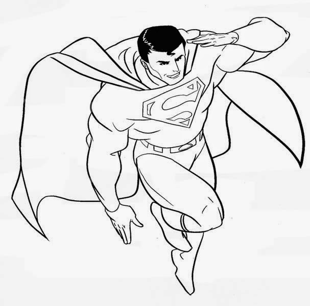 Gambar Mewarnai Superman Gambar Mewarnai Lucu