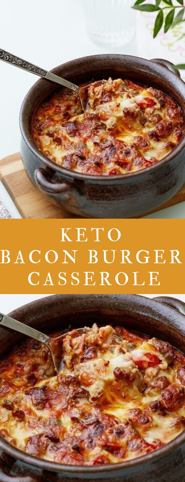 Keto bacon burger casserole