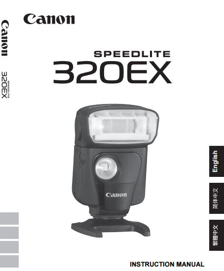 Canon Speedlite 320EX User Guide / Manual Downloads