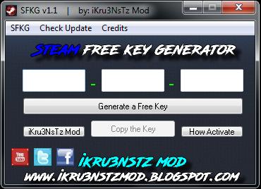 Steam key generator v1.13