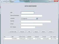 Contoh Aplikasi Database Sederhana dengan Java GUI dan MySQL
