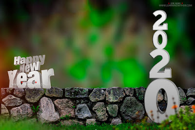 Happy new year 2020 hd cb background,