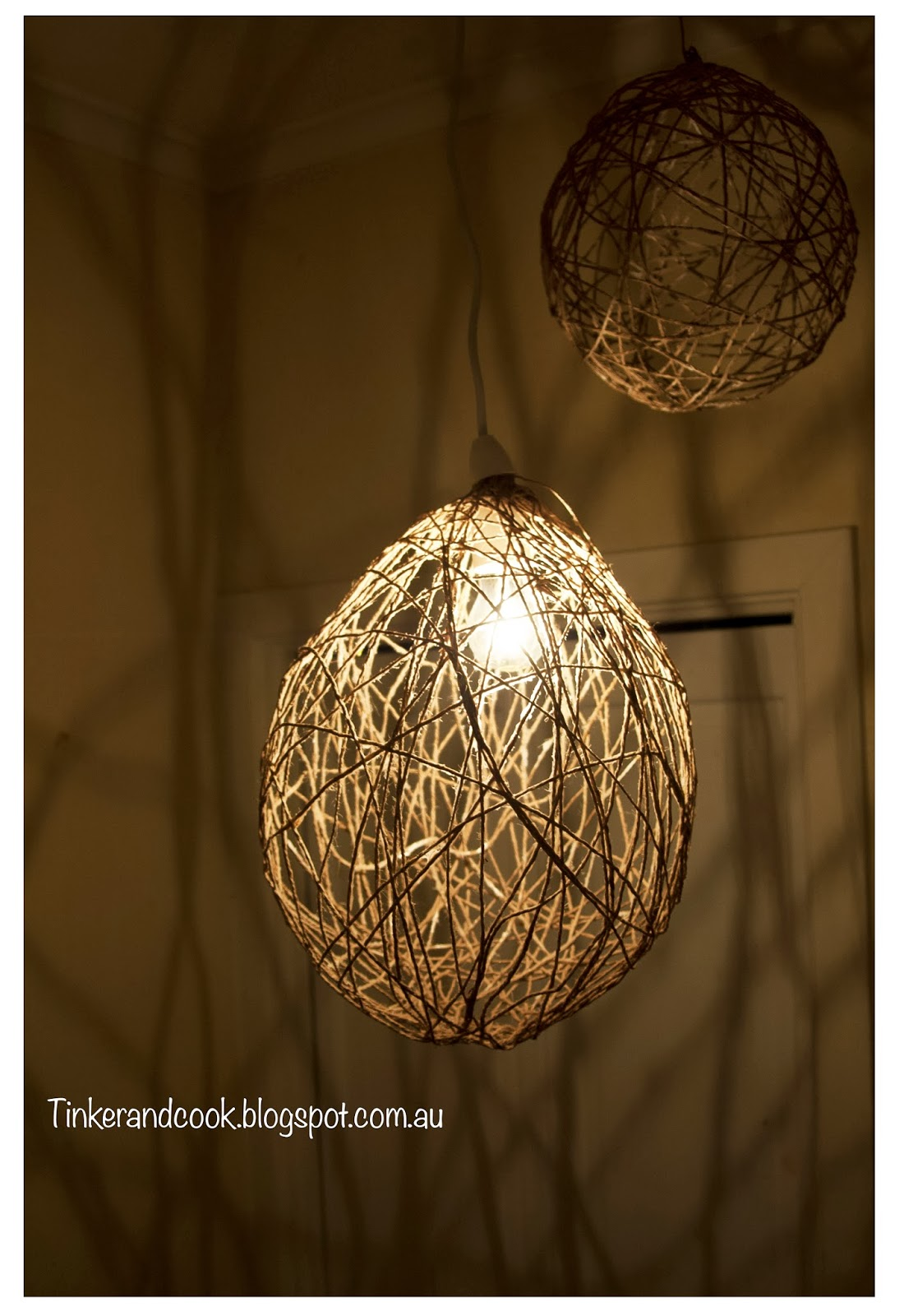 Tinker and Cook: DIY Jute lampshade
