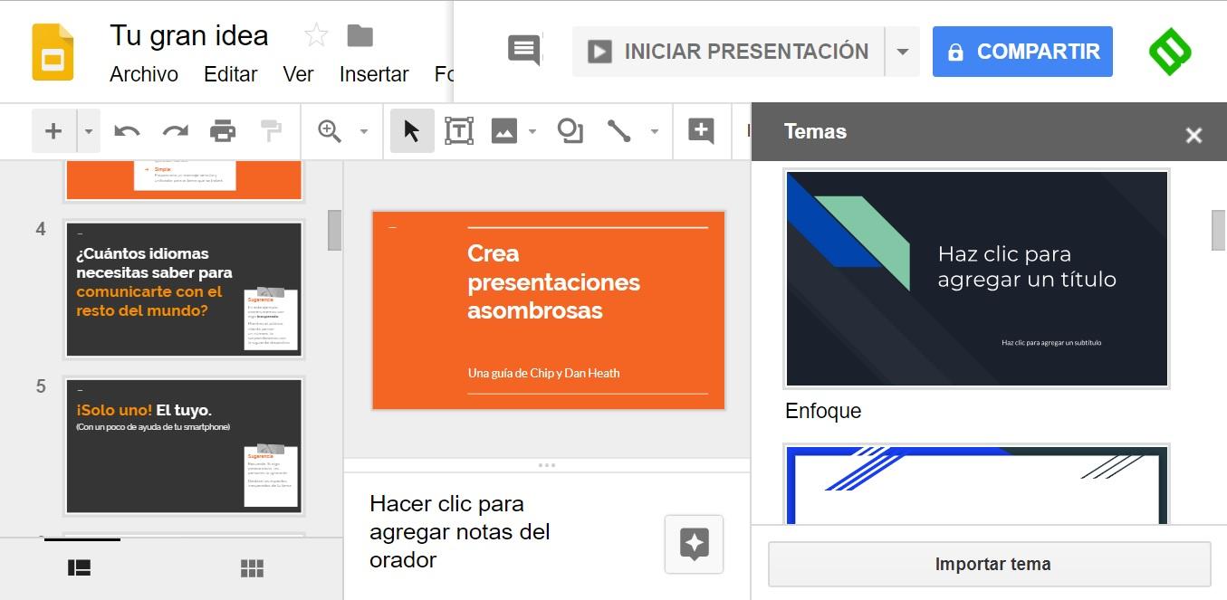 Presentaciones gratuitas con Presentaciones de Google