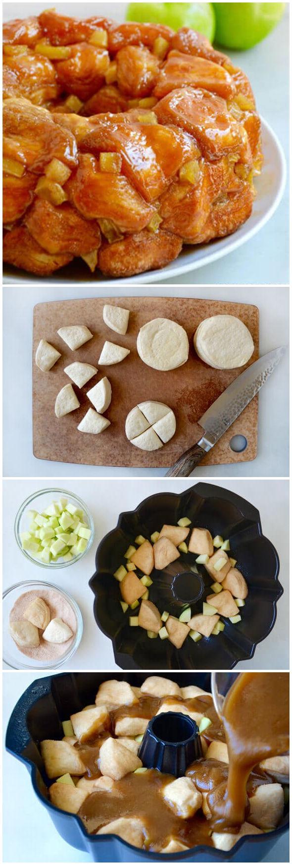 Easy Caramel Apple Monkey Bread