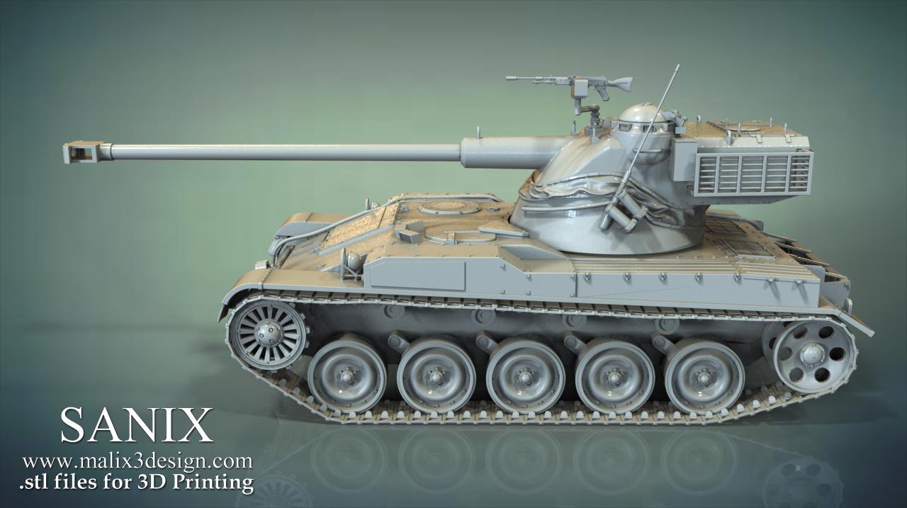 TANK Model AMX 13 ( Upgraded MOD ) - 3D Model for 3D