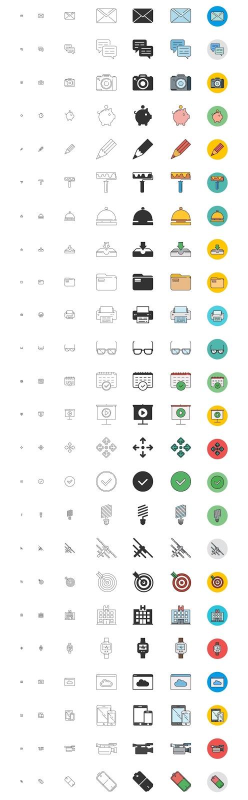 192 Free Responsive Icons Set