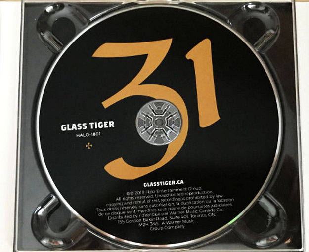 GLASS TIGER - 31 (2018) disc