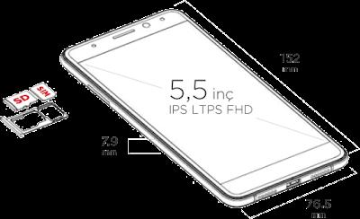 General Mobile 5 Plus Fiziksel Özellikleri