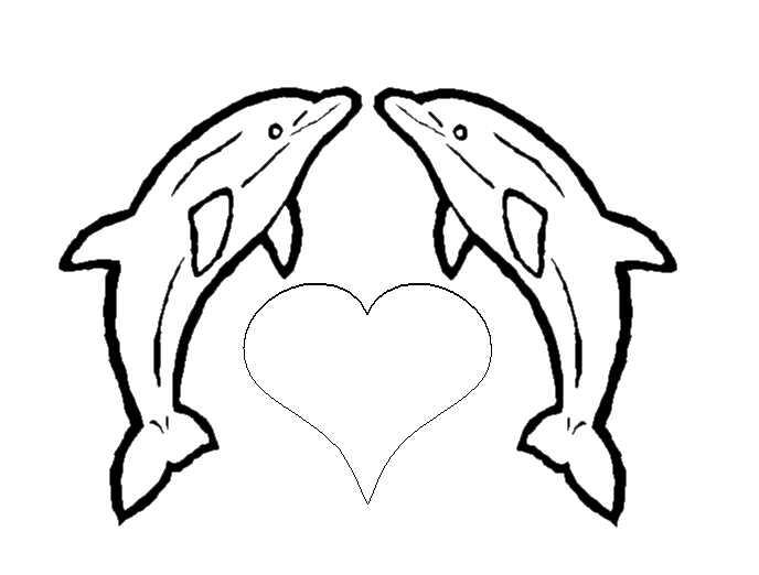 Tranh tô màu cá heo và bạn