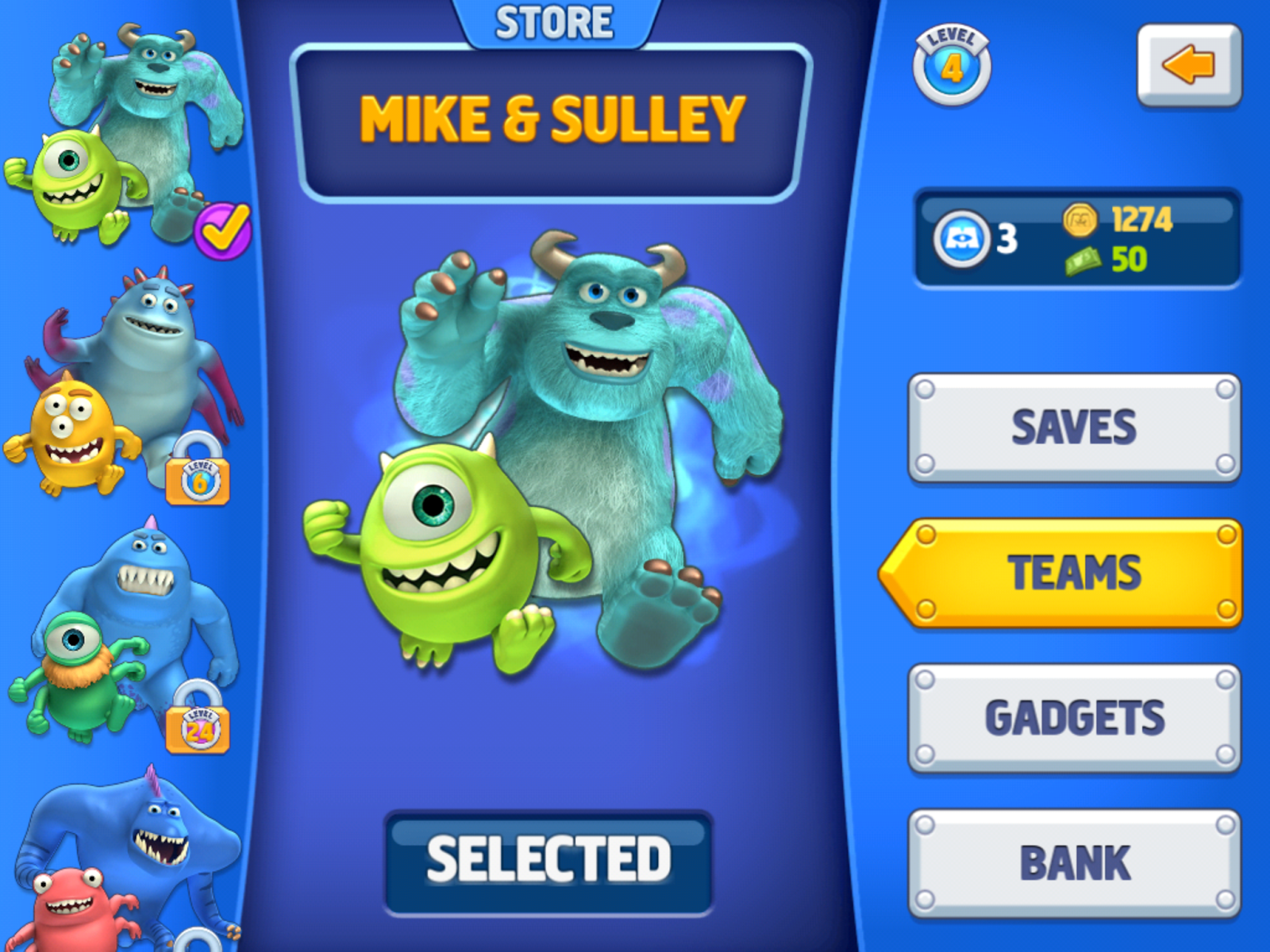 Monsters, Inc  Run Game is a Side-Scrolling Good Time