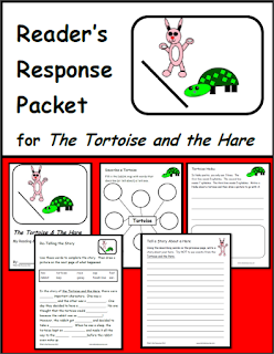 Free reading comprehension packet for fable The Tortoise and the Hare. From Raki's Rad Resources.