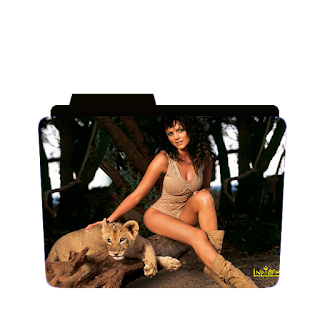 Preview of actress with tiger, photoshoot, pose, folder icon