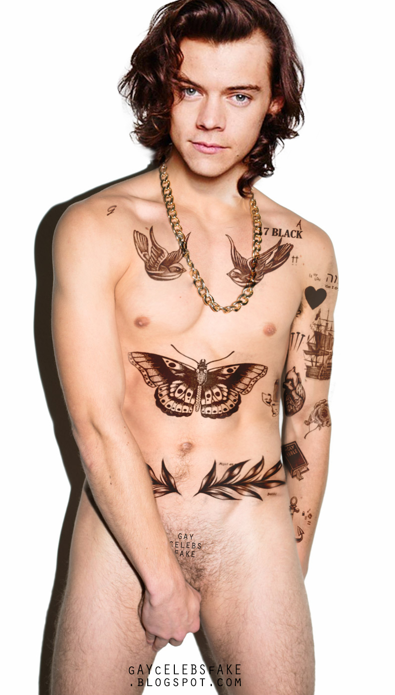 Gay Celebs Fakes Harry Styles Naked Fake Photoshoot-4459