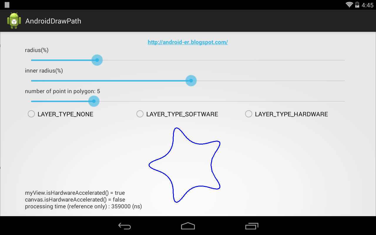 android-er: round corner of path with cornerpatheffect