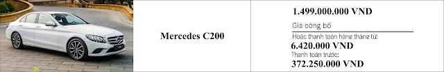 Giá xe Mercedes C200 2019 tại thị trường Việt Nam