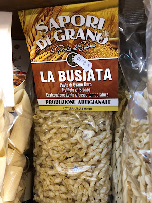 A type of pasta called busiata, common in the south of Italy and on Pantelleria.
