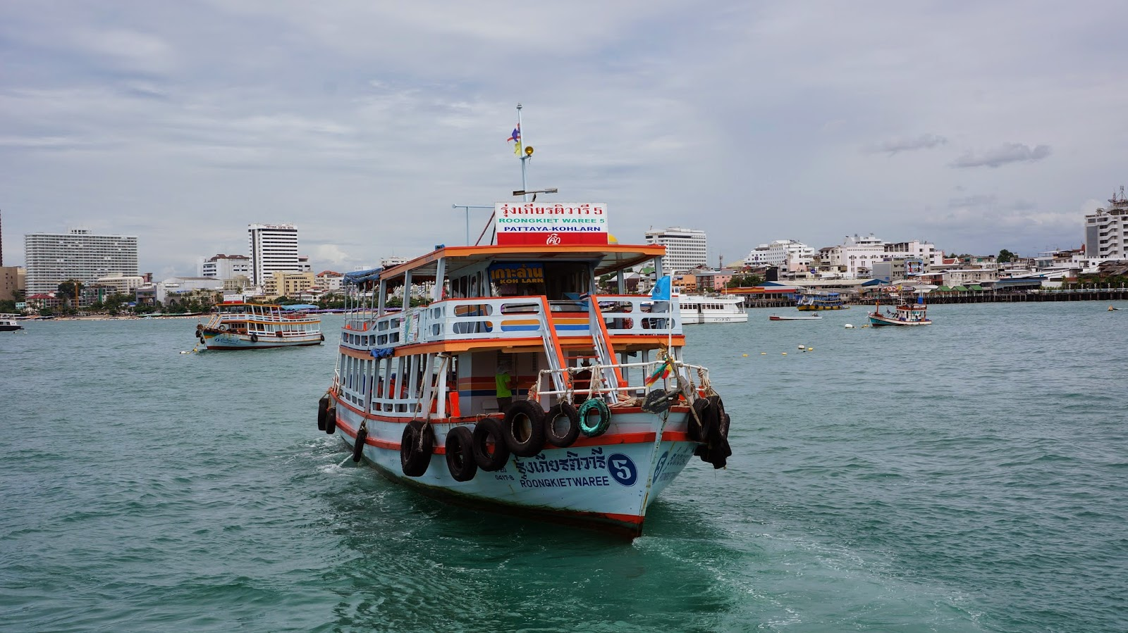 Taking the ferry to Koh Larn island, just 45 minutes away from Pattaya