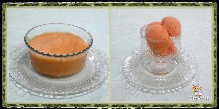 Sorbet de pêssegos 1