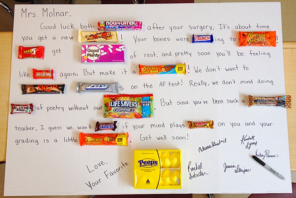 Simple Amp Sweet Get Well Surgery Candy Card
