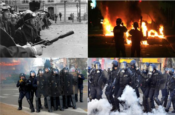 Les forces anti émeutes