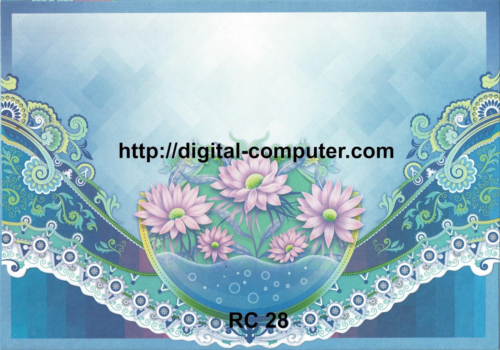 Undangan Softcover Rain Card RC-28