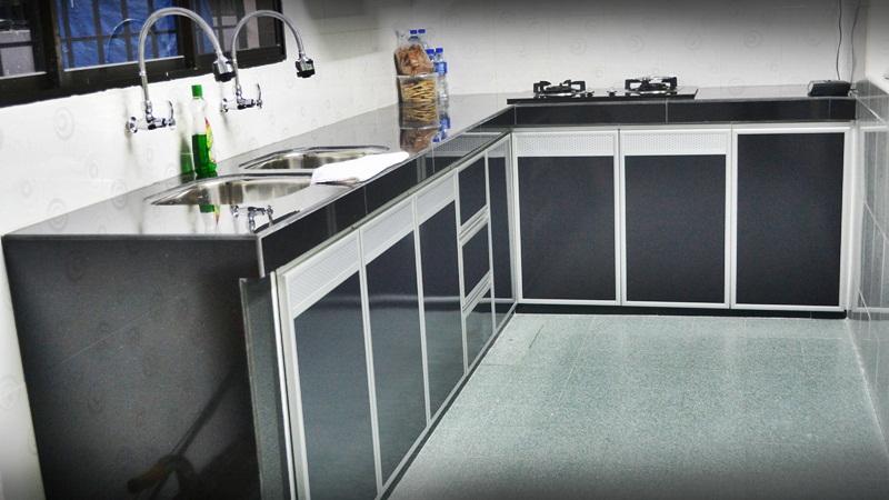 Kabinet Dapur Pintu Kaca Desainrumahid