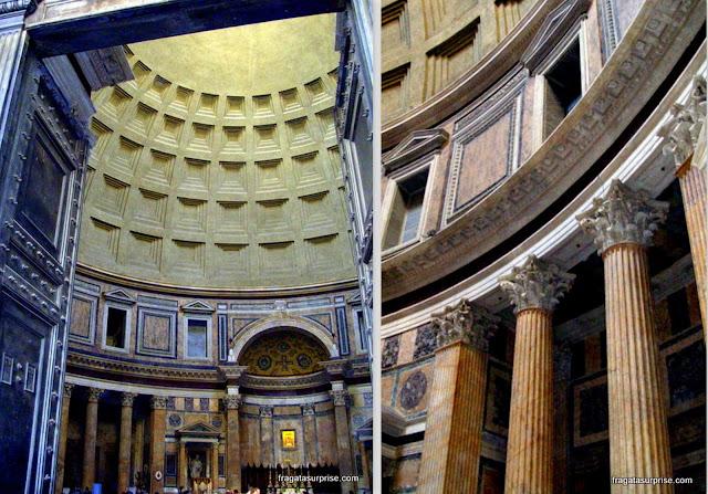 Decoração interior do Pantheon, Roma