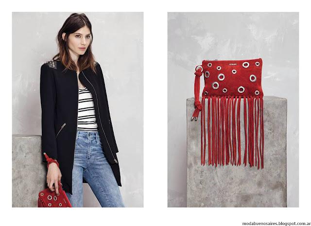 Moda invierno 2016 carteras y sobres Kosiuko. Moda 2016.