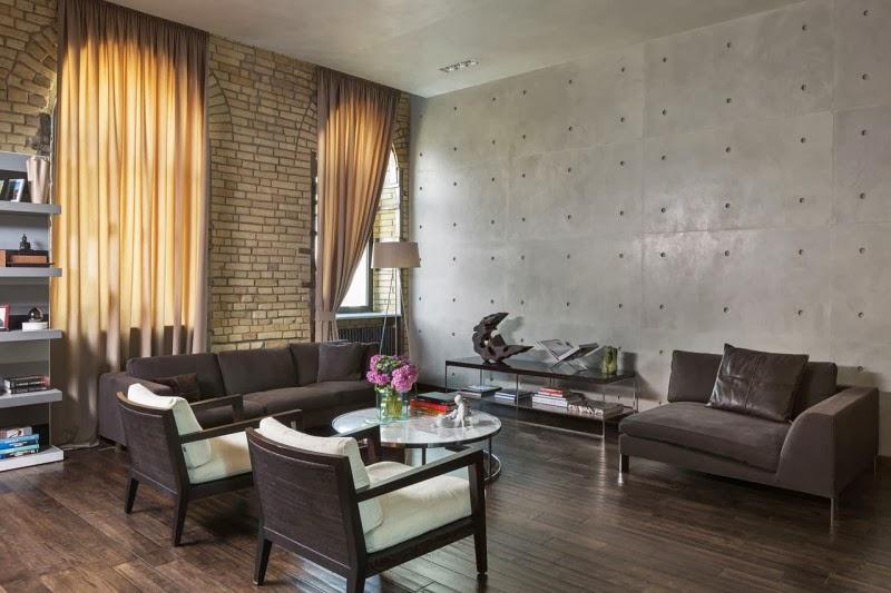 Hogares Frescos: Loft Elegante Con Un Interior Estilo