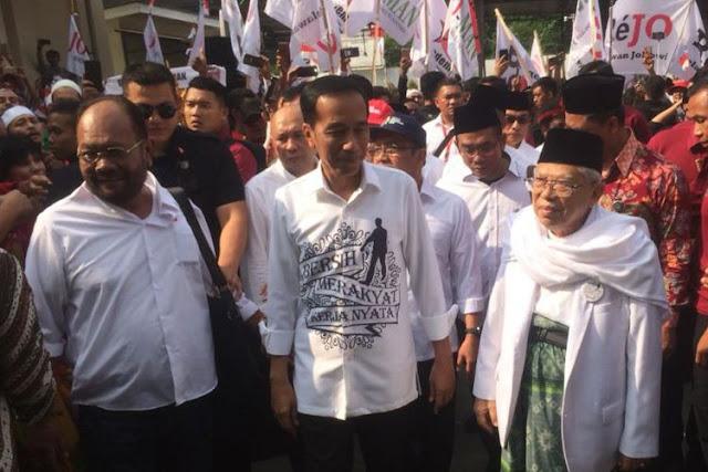 Berkas Lengkap, Jokowi-Ma'ruf Resmi Daftar Capres-Cawapres