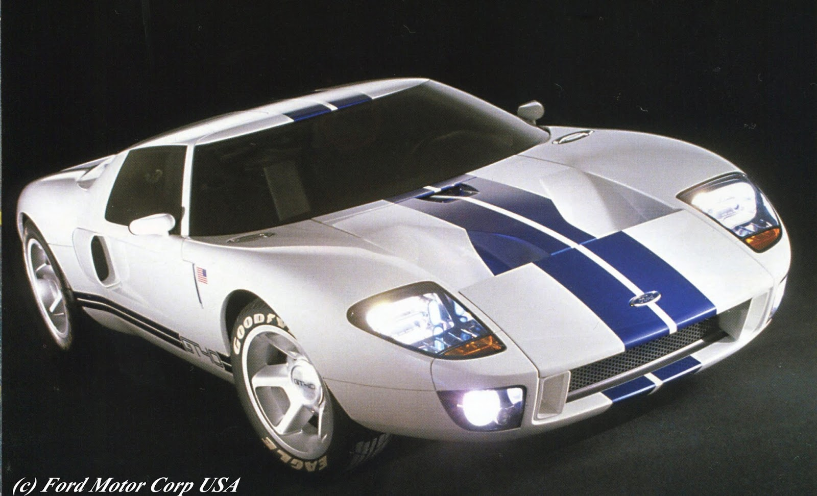 The Promotional Slick Ford Gt Concept Car As Shown In Living Legends Tour Literature