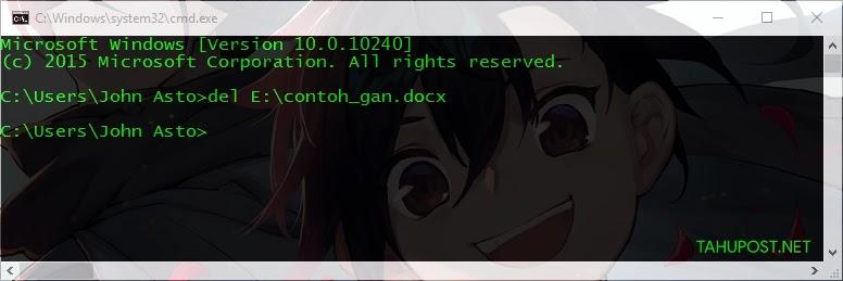 Hapus dengan CMD - Cara Menghapus File yang Tidak Bisa Dihapus dengan CMD