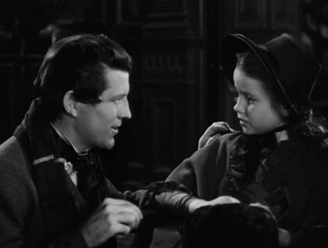 Donald Fettes (Russell Wade) y Georgina Marsh (Sharyn Moffett) en El ladrón de cadáveres. The Body Snatcher - Cine de Escritor