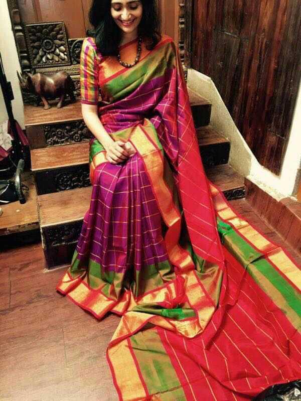 Uppada special checks saree 39 s online uppada sarees at for Best check designs