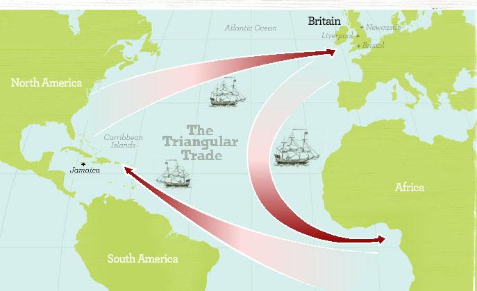 Blank Triangular Trade Map