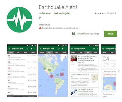 Aplikasi Pendeteksi GempaEarthquake Alert