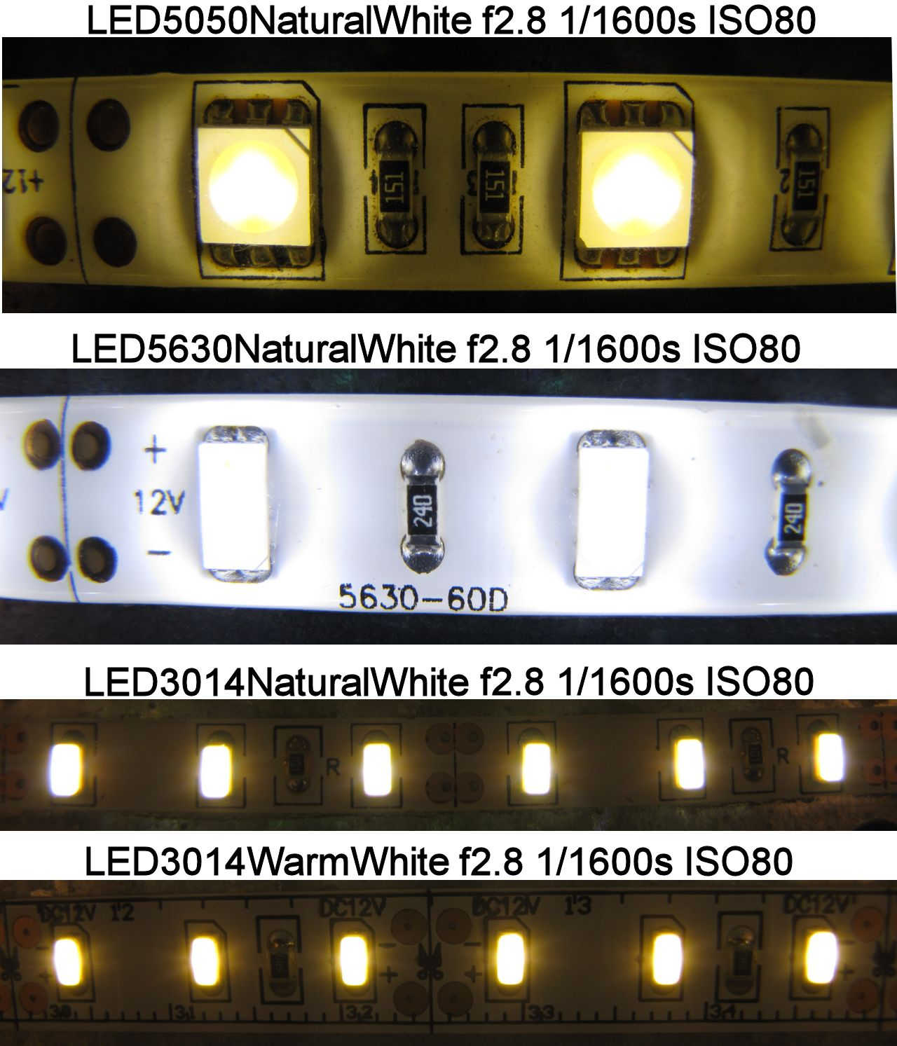 Led Strip 5050 5630 3014, foto a 1/1600s