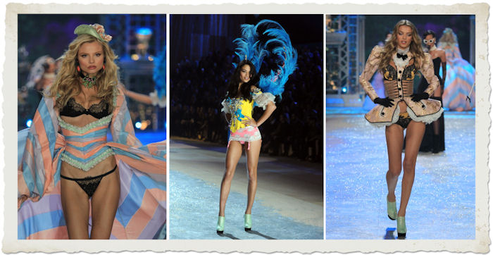 la sfilata in lingerie di Frackowiak,  Shanina Shaik shon, Jablonski al Victoria's Secret Fashion Show