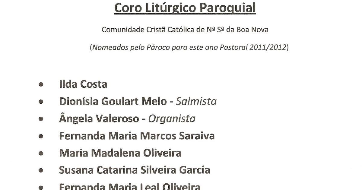 COMUNIDADE PAROQUIAL de NOSSA SENHORA DA BOA NOVA ...